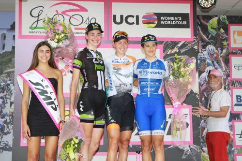 Riejanne Markus podium Giro Rosa